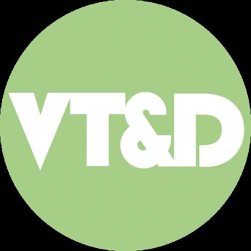 Logo Veenstra Woord en Design groen